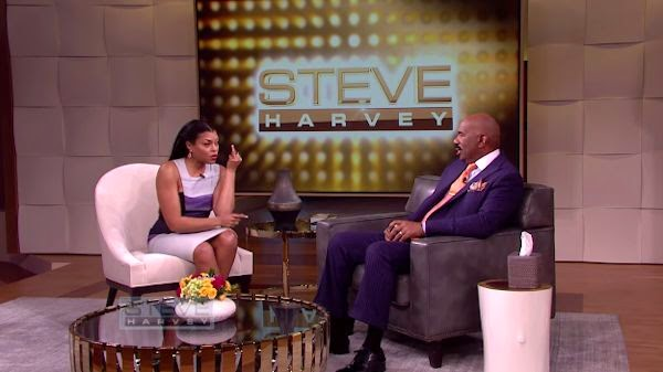 Man Cave Show Steve Harvey : Taraji p henson will only claim her man when he puts a