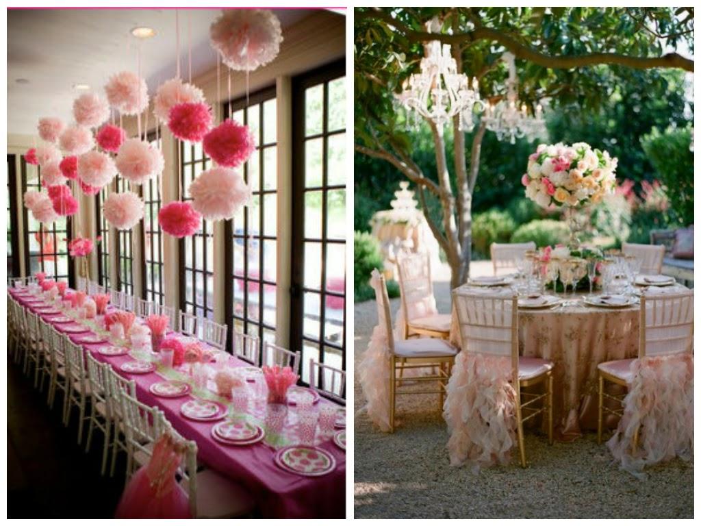 ... rosa e dourado ref 43 decoracao festa bolo # decoracao branco rosa e