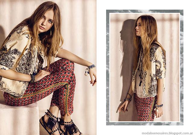 Moda primavera verano 2016 pantalones Rapsodia.