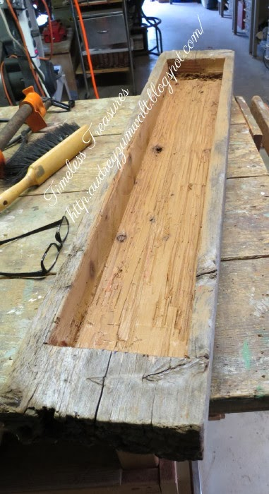 Timeless treasures dug out wooden trough fall table