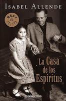 """Portada del libro """"La casa de los espíritus"""", de Isabel Allende"""