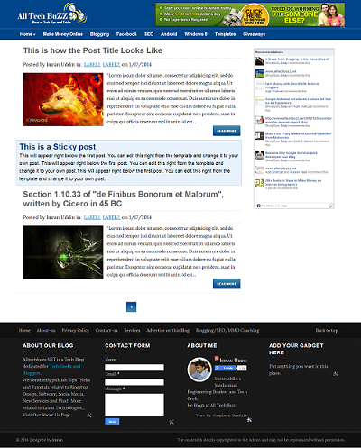 AllTechBuzz - Template Blog SEO Friendly Free