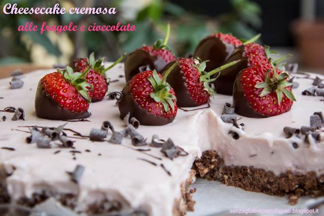 cheesecake cremosa alle fragole e cioccolato senza cottura con kenwood