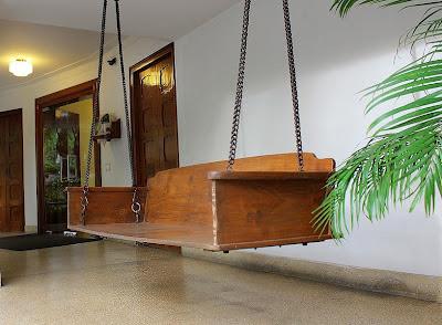 Sarangi oonjal, joola indian swing, wooden on www.thekeybunch.com