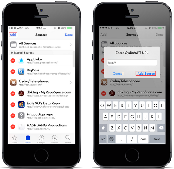 How to add sources in Cydia