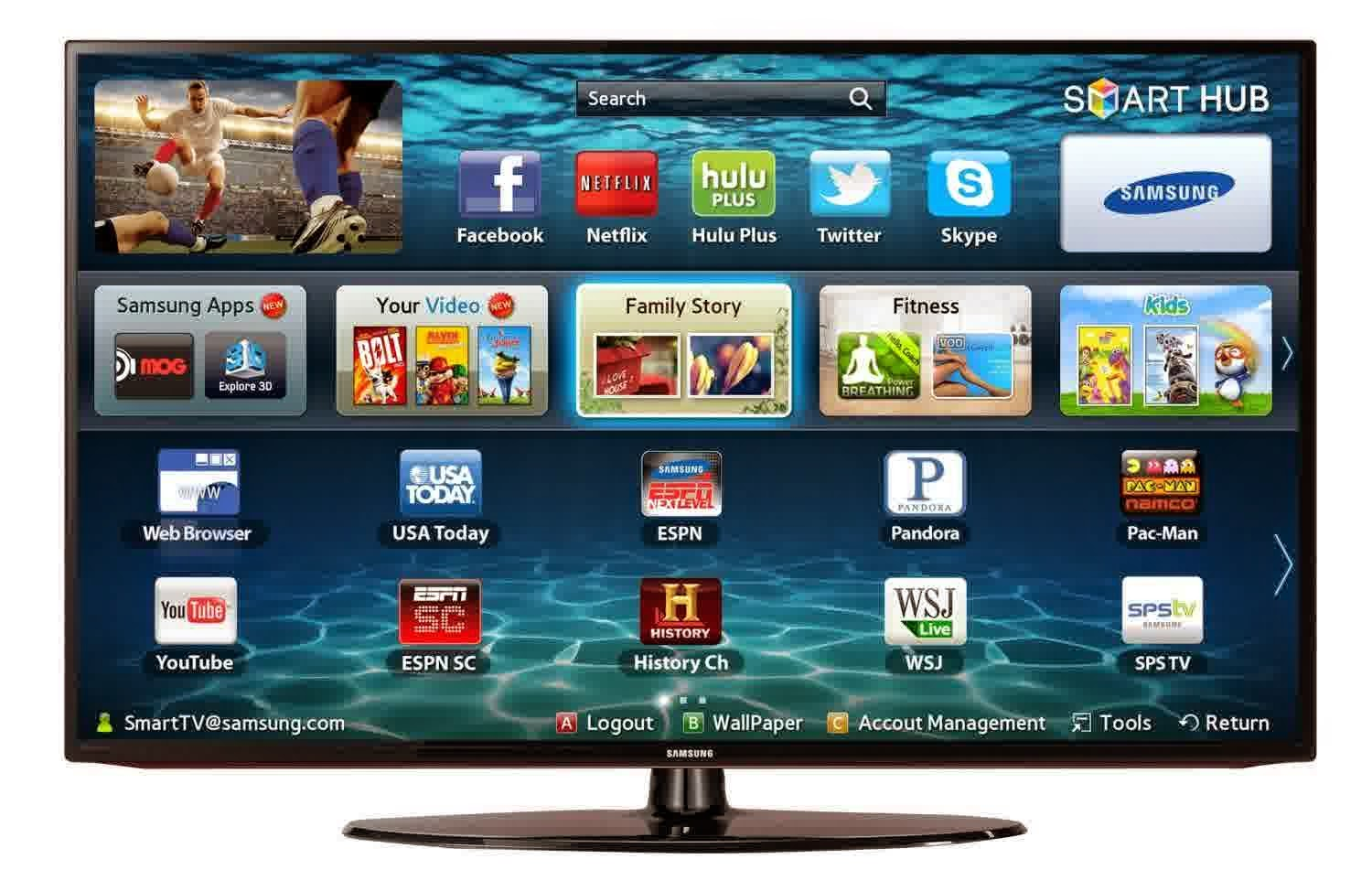 samsung un40eh5300 40 inch 1080p 60hz led hdtv 2013 model. Black Bedroom Furniture Sets. Home Design Ideas