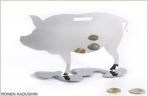MIRROR PIGGY BANK - RONEN KADUSHIN