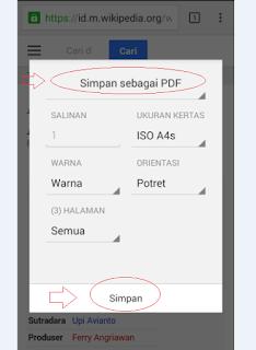 Cara menyimpan (convert) halaman web ke pdf di android