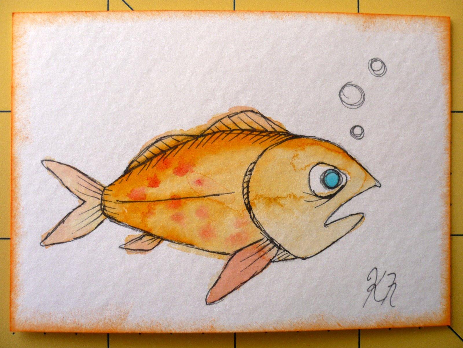 Рисунки своими руками рыбы 256