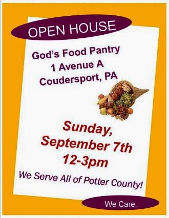 9-7 God's Food Pantry Open House