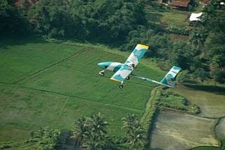 UAV Wulung Saat Terbang