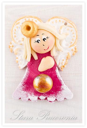 Aniołek z masy solnej, aniołki z masy solnej, anioł anioły z masy solnej, masa solna, salt dough angels, figurka z masy solnej