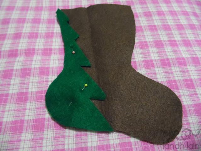 Cómo hacer una bota navideña