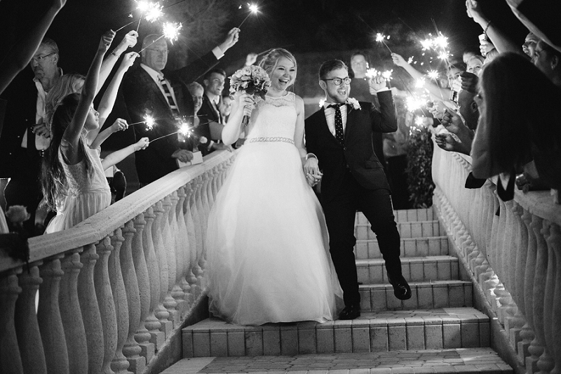 amazing sparkler exit south florida wedding photographer