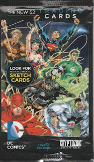 Front of the New 52 DC Comics trading cards pack wrapper