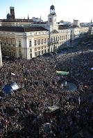 Movimiento 15-M hace dos años, cuando las autoridades pusieron fin a las acampadas de la Puerta del Sol madrileña