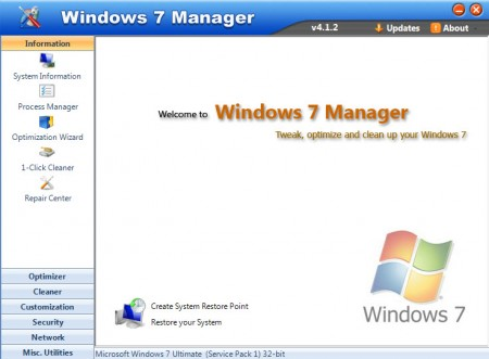 Windows 7 Manager 4.2.4