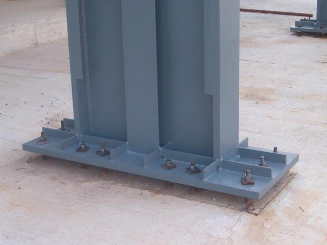 Base colonna acciaio