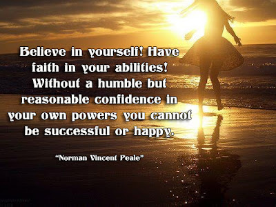 facebook Poste image quotes (Believe in yourself! Have faith in your abilities! ..)