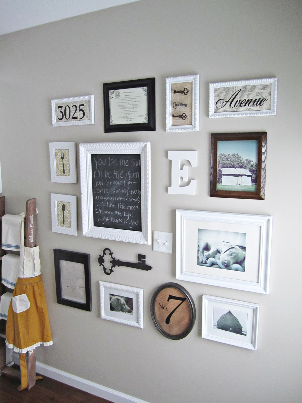 Behind the red barn door gallery wall for House arrangement ideas