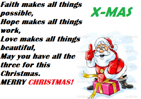 Merry Christmas 2017 SMS,Quotes, wallpapers,Wishes, Status,Messages ...