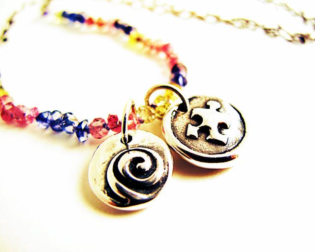 sterling silver karma puzzle piece autism charm pendant necklace