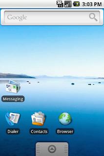 Tampilan Android 1.6