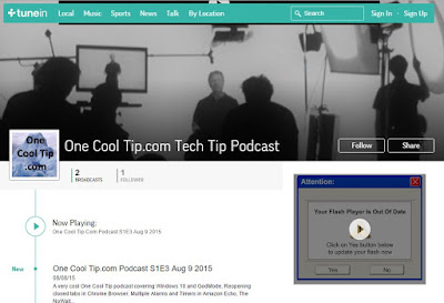 Tunein Radio - One Cool Tip.com Cool Tech Tip podcast