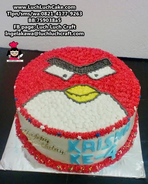 Kue Tart Angry Bird Daerah Surabaya - Sidoarjo (Repeat Order)
