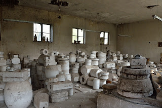 Mold room at ceramics factory in Beijing