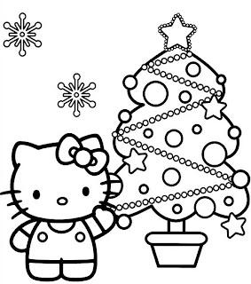Disegni Di Natale Da Colorare 2019.Disegni Da Colorare Di Hello Kitty Per Natale Fredrotgans