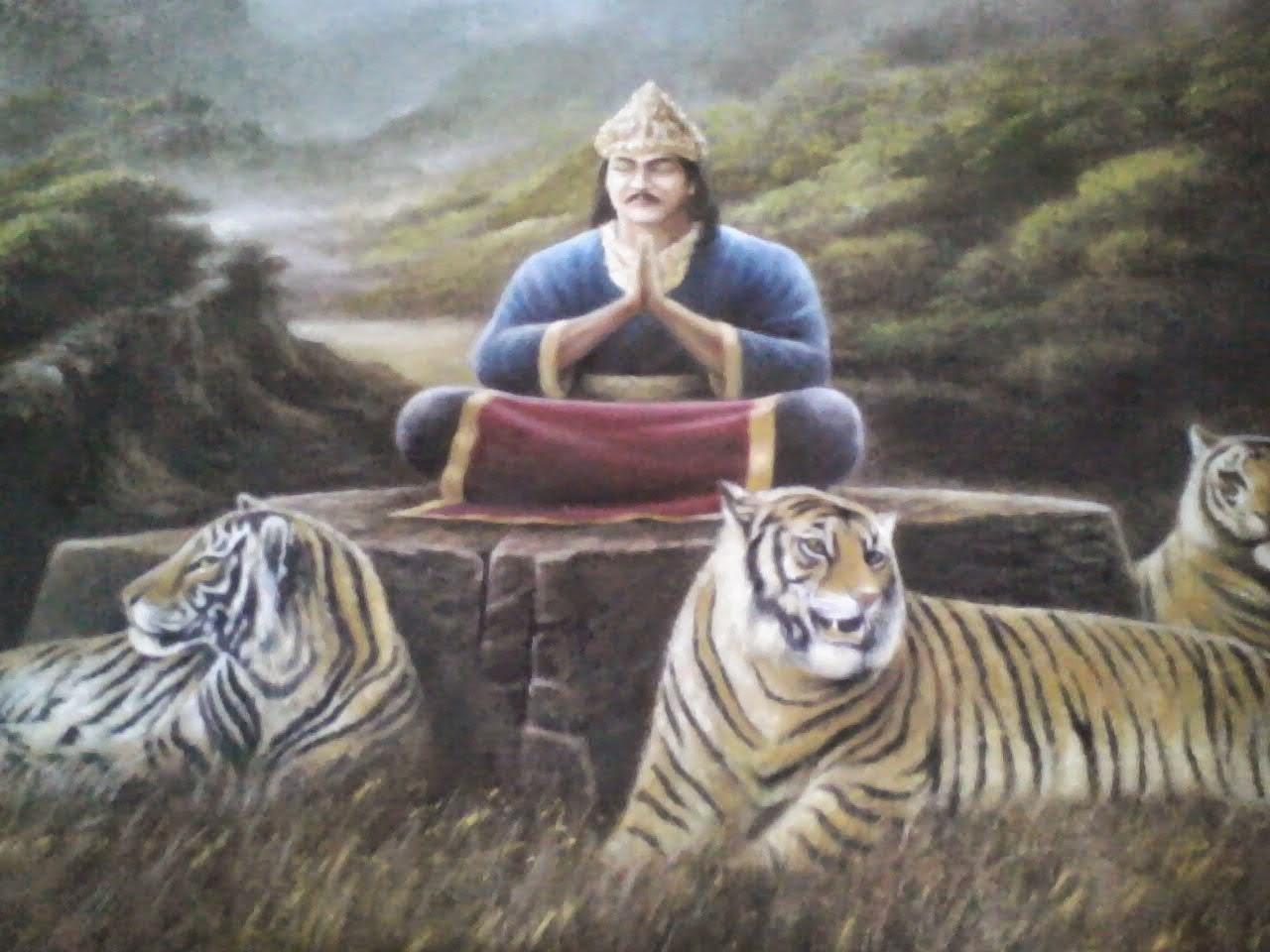 Lelaki Didampingi Harimau