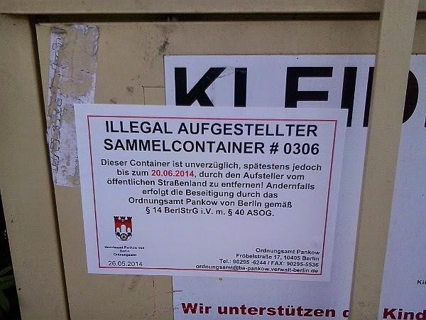 Kleidercontainer berlin pankow