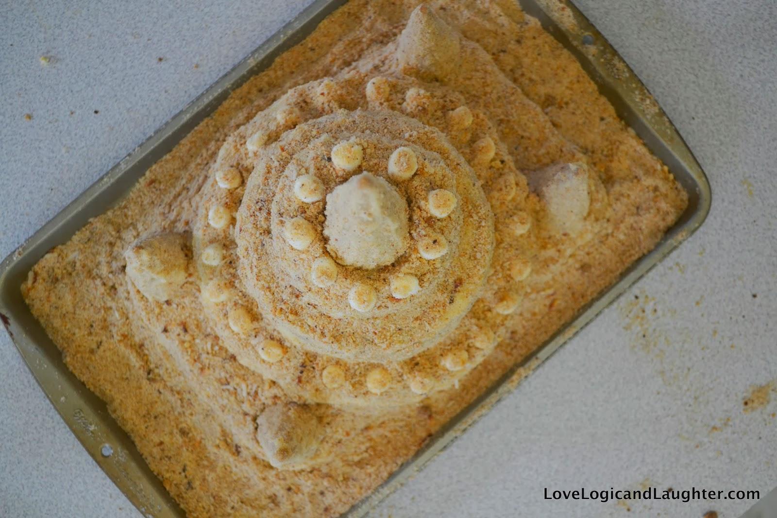 Diy Sandcastle Cake Tutorial Logic And Laughter