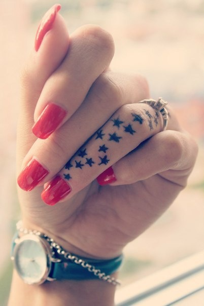 Girls Finger Tattoos