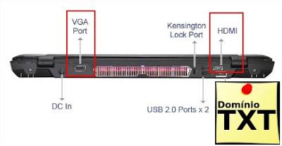 DominioTXT - VGA HDMI em Notebooks