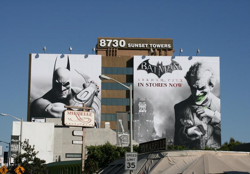 Batman Arkham City billboards