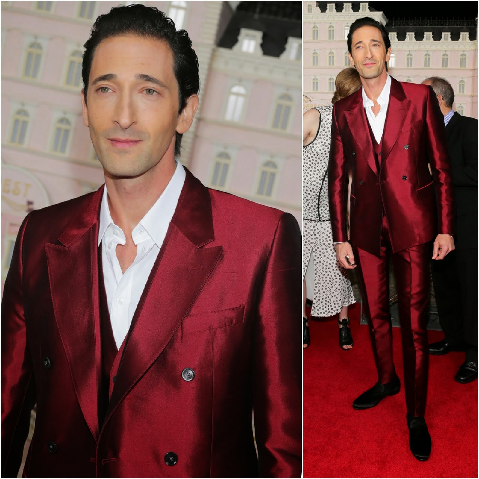 Adrien Brody in Dolce Gabbana - 'The Grand Budapest Hotel' New York Premiere