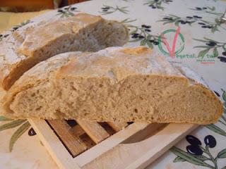 Pan de Auvernia, vista de la miga.