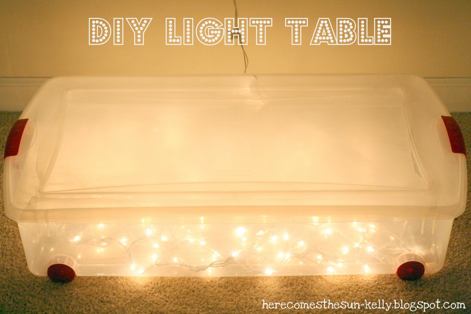 diy light table here comes the sun