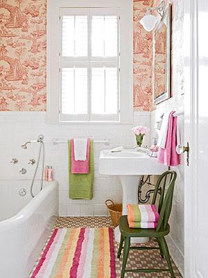 0000 Vintage Bathroom after BHG Banheiros simples e lindos