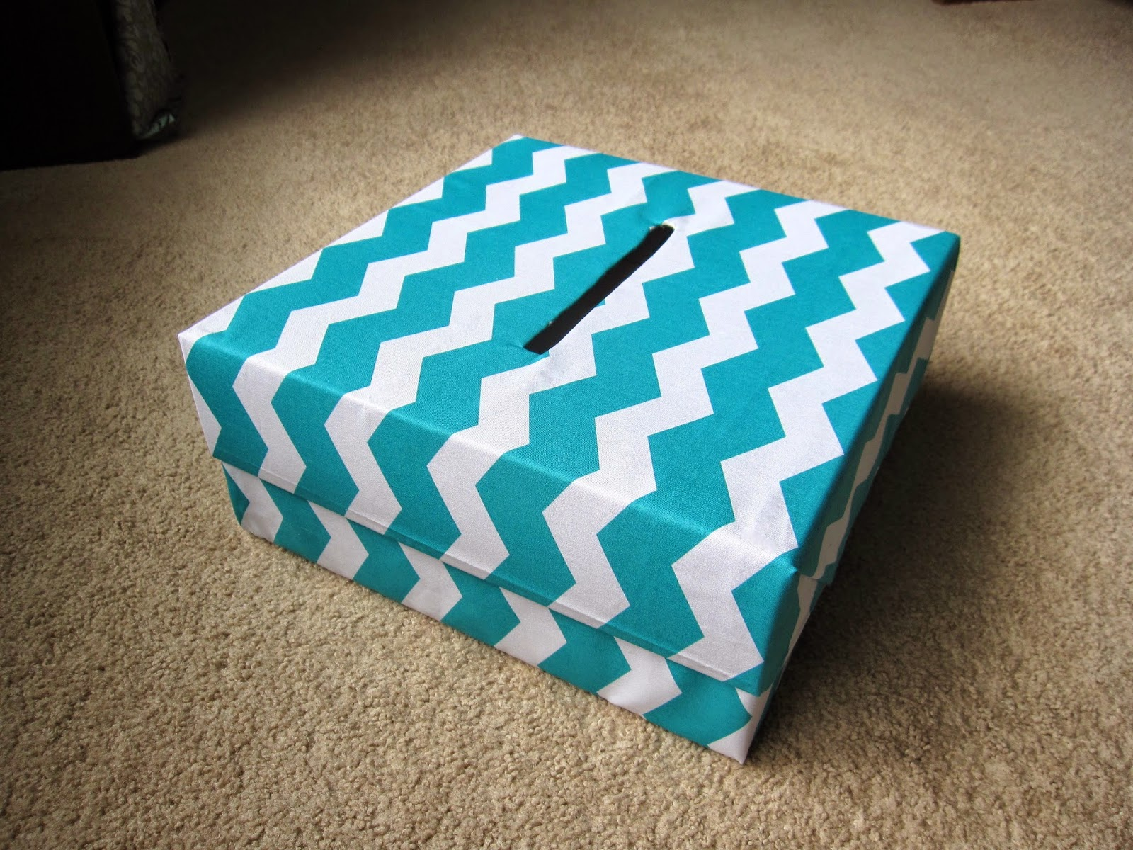 how to make a wedding card box with fabric