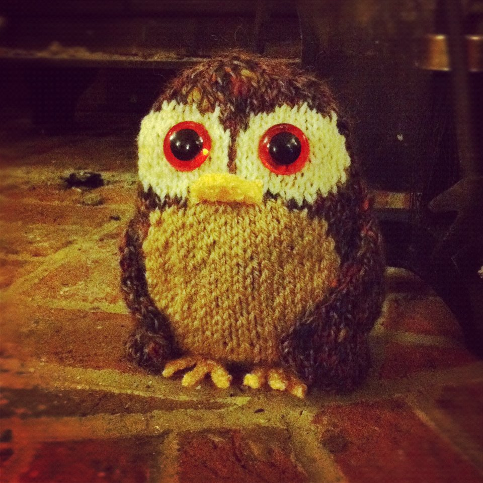 Free Tweed Owl Knitting Pattern