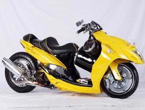 foto gambar modfikasi Yamaha Mio dan Honda Vario Punya Kesamaan