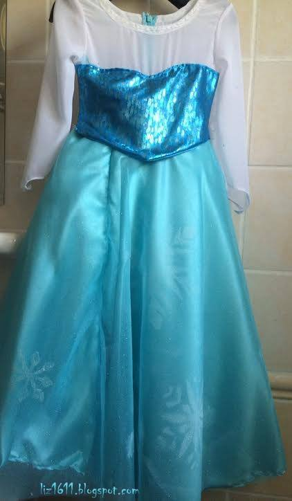 queen elsa frozen costume DIY