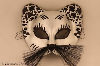 Gattone Black & Silver Masquerade Ball Mask from Theatrical Threads Ltd