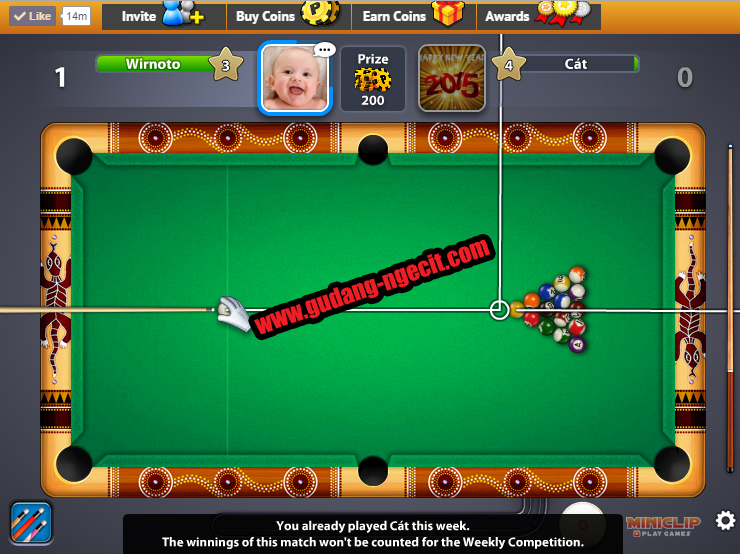 strip 9 ball pool