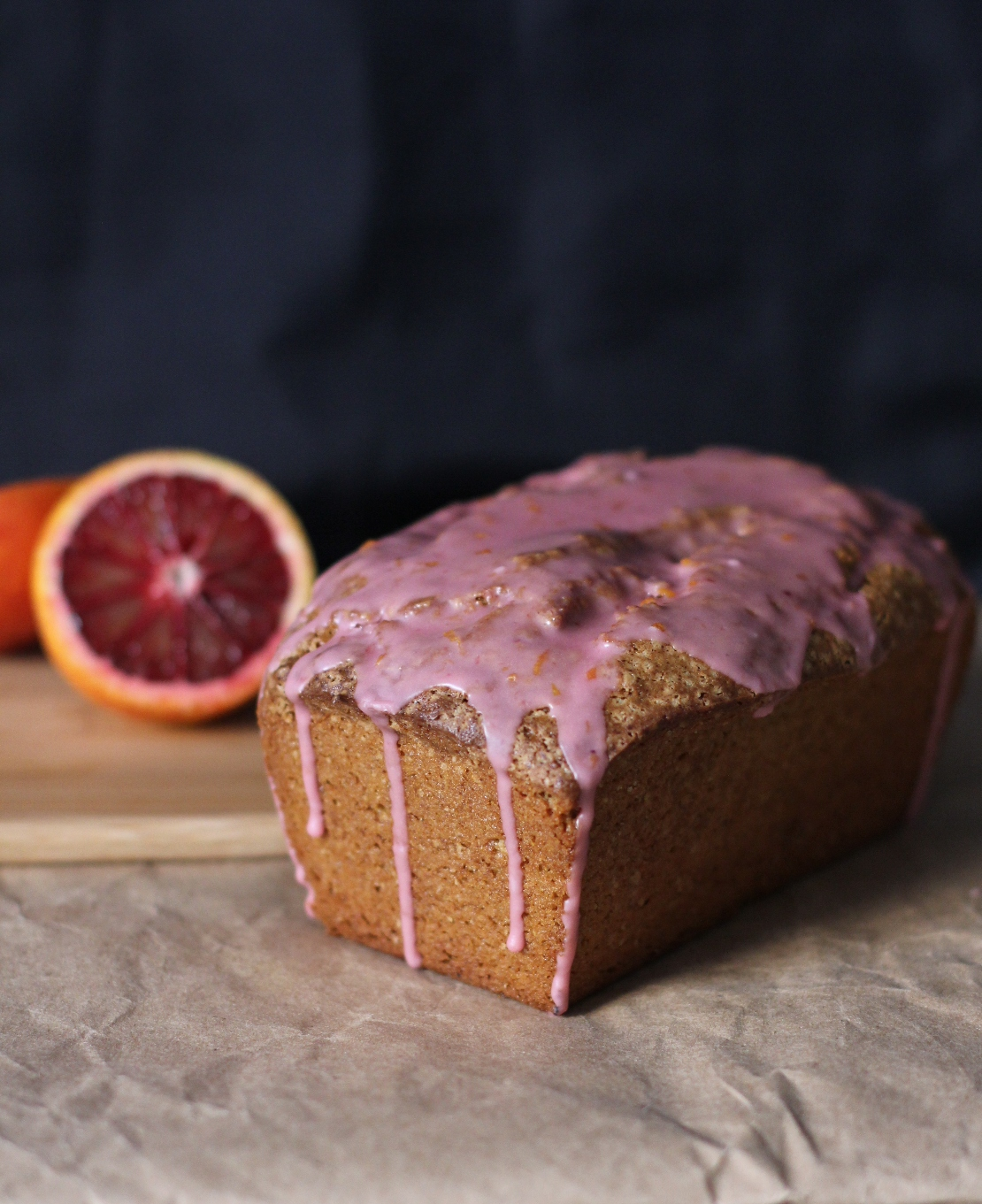 Avocado Pound Cake with Blood Orange Glaze Recipe | Fake Food Free