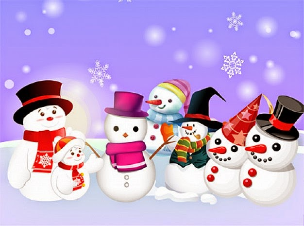 imagen de bellos muñecos de nieve