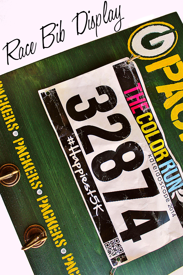Handmade Race Bib Display gift idea for seasoned runners or fun run enthusiasts!